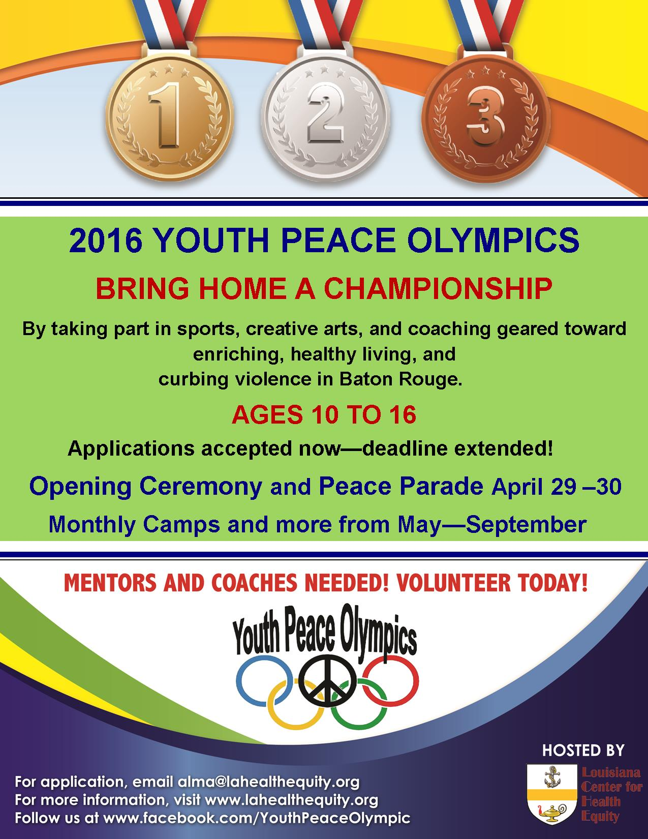 Youth Peace Olympics 2016